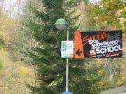 banner Ski School Snowy