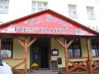 Štít restaurace Na Špici