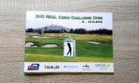 Brožura na golfový turnaj