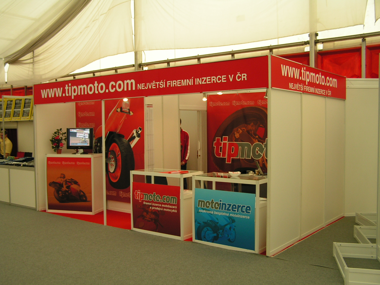 Prezentační stánek tipmoto.com